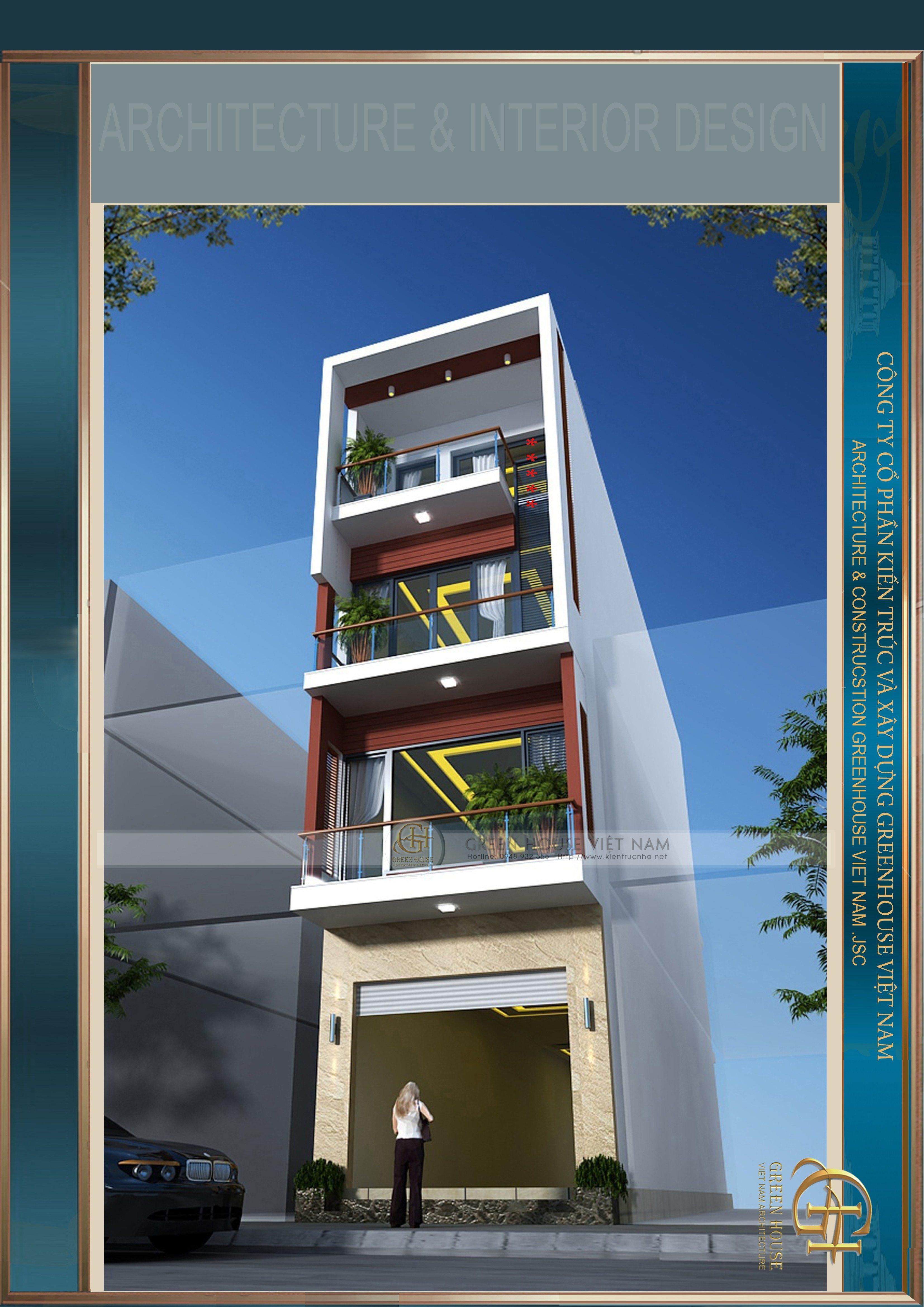 Thiết kế kiến trúc : Gia đình anh Quyết- Tp Bắc Giang