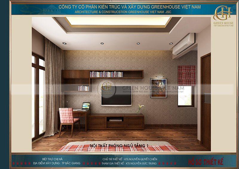 Thiết kế nội thất : biệt thự gia đình chị Hà – Tp Bắc Giang