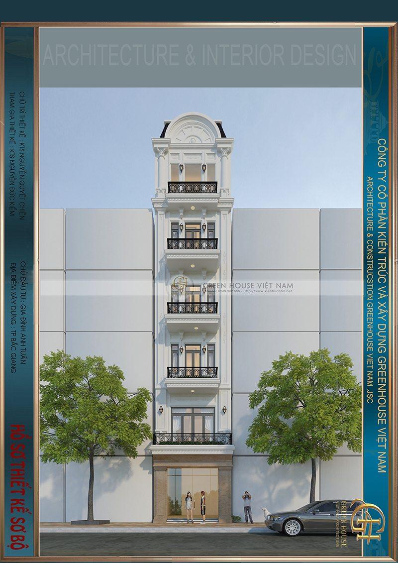 Thiết kế nhà lô phố : Gia đình anh Nguyễn Anh Tuấn – Tp Bắc Giang