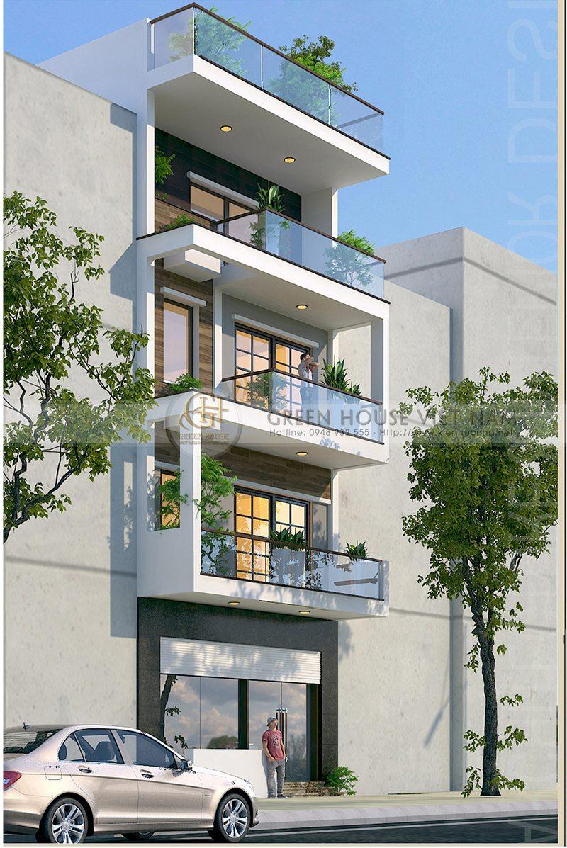 Thiết kế kiến trúc nhà lô phố: gia đình chú Chuyên – Tp Bắc Giang