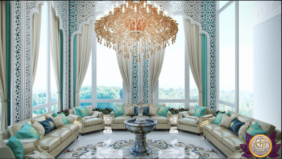 Mẫu phòng khách sang trọng dành cho thiết kế biệt thự cổ điển cho năm 2017