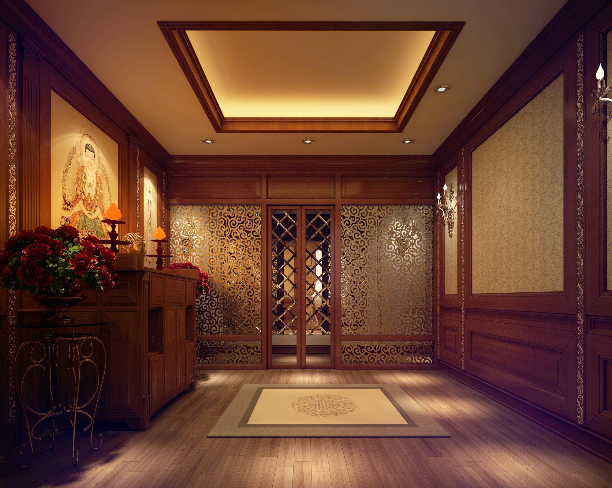 Thiết kế phòng thờ đẹp cho biệt thự