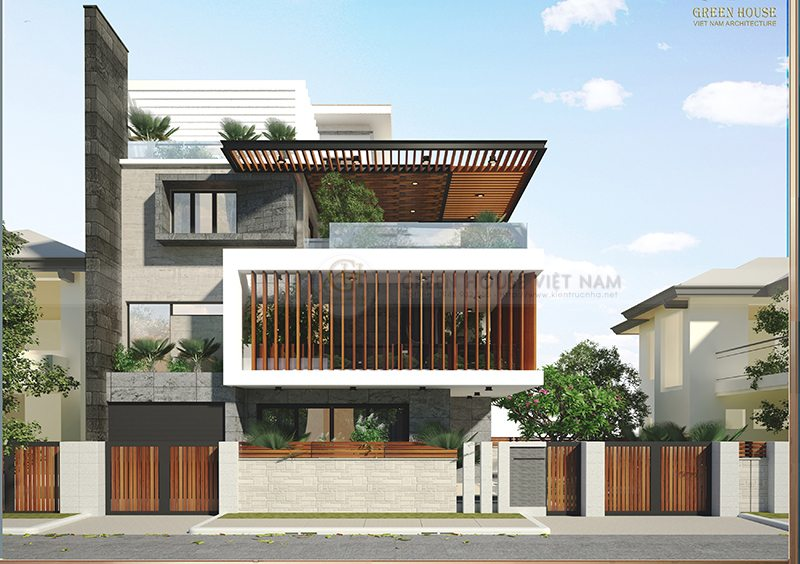 Thiết kế kiến trúc biệt thự hiện đại : gia đình anh Tước – Bắc Giang