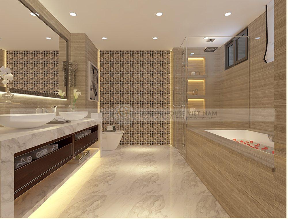 Thiết kế nội thất lô phố tân cổ điển: anh Hiền- Bắc Giang