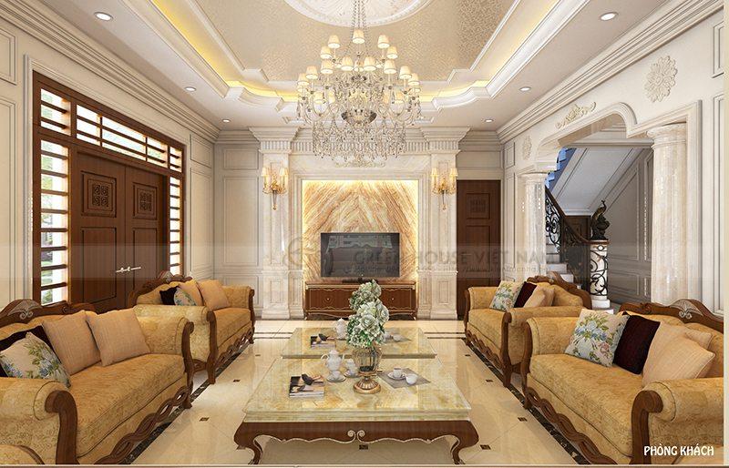 Thiết kế nội thất tân cổ điển - Biệt thự gia đình anh Thức