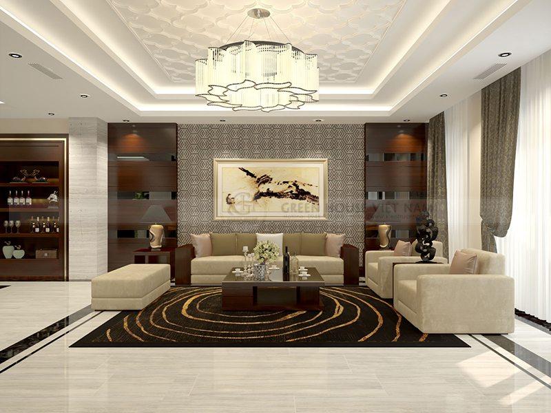 Thiết kế nội thất hiện đại: Gia đình anh Quang Bích