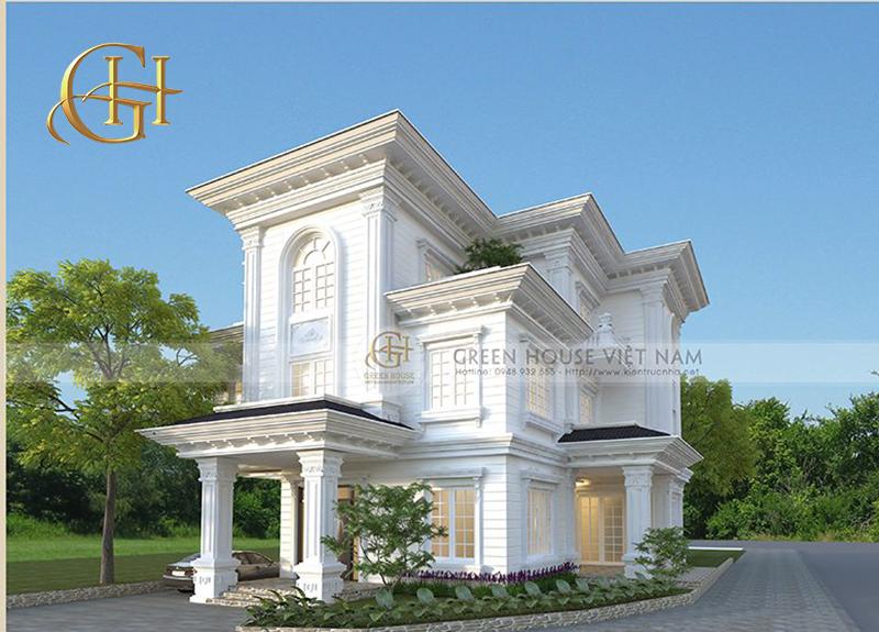 thiết kế biệt thự đẹp tại Bắc Ninh - Biệt thự cổ điển