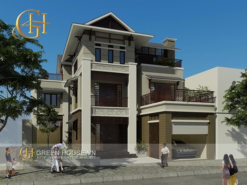 thiết kế biệt thự đẹp tại Bắc Ninh - Biệt thự hiện đại