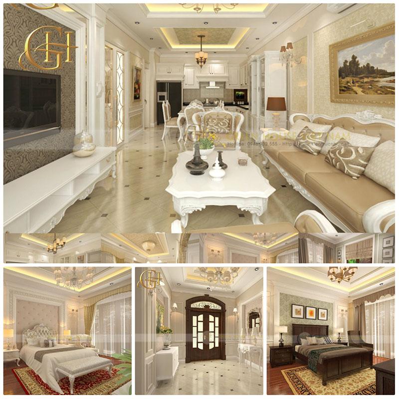 Thiết kế nội thất tân cổ điển sang trọng, đẳng cấp tại Hà Nội – Biệt thự Trung Văn