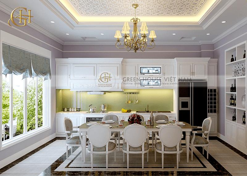Thiết kế nhà lô phố - nội thất tân cổ điển trang nhã