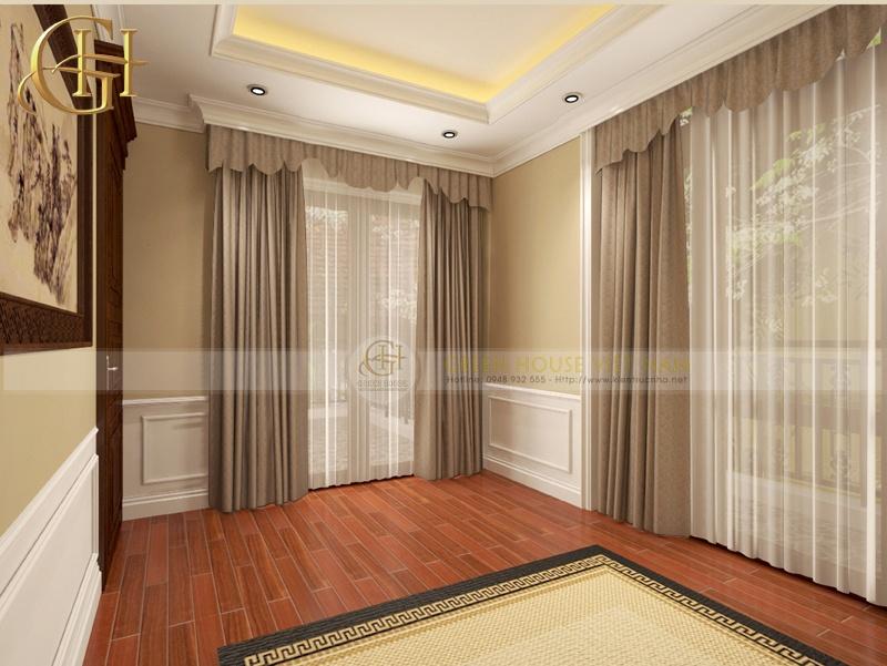 Thiết kế nội thất tân cổ điển sang trọng, đẳng cấp: Biệt thự Trung Văn - Phòng thờ