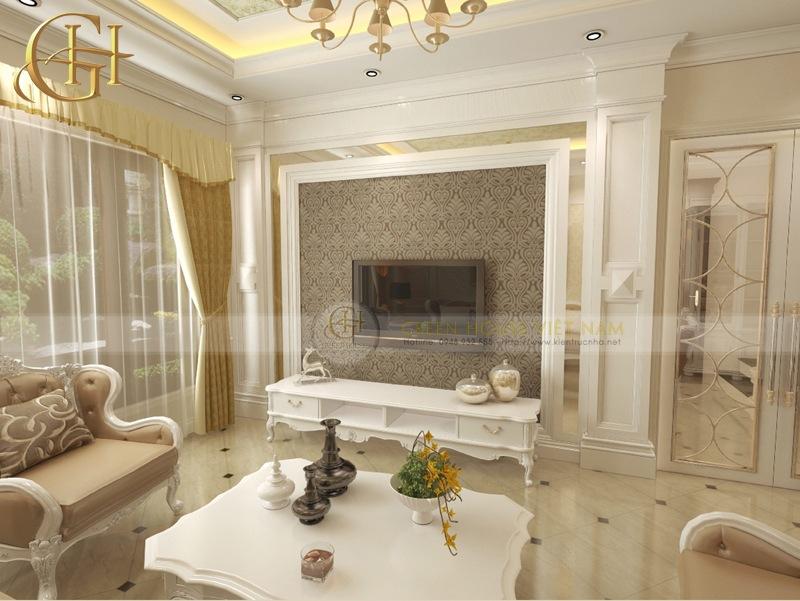 Thiết kế nội thất tân cổ điển sang trọng, đẳng cấp: Biệt thự Trung Văn - Phòng khách