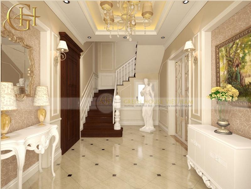 Thiết kế nội thất tân cổ điển sang trọng, đẳng cấp: Biệt thự Trung Văn - Sảnh chính