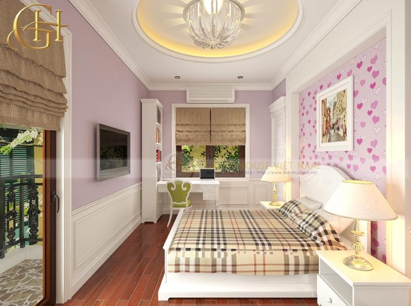 Phòng ngủ tân cổ điển cho con gái