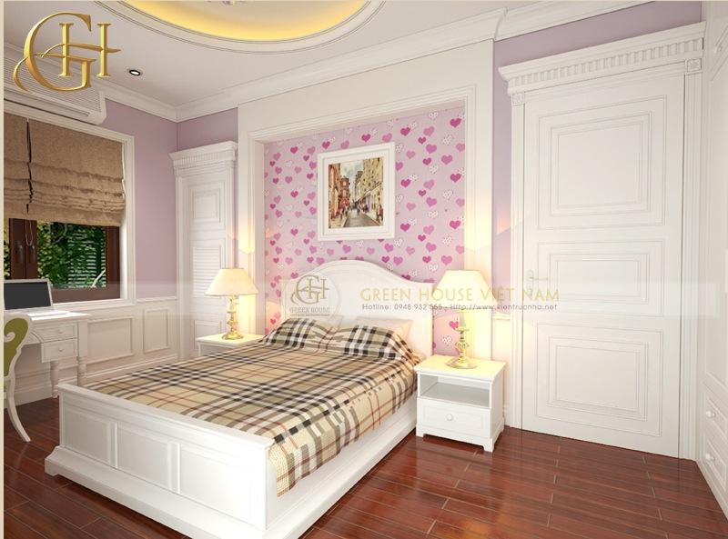 Thiết kế nội thất tân cổ điển sang trọng, đẳng cấp: Biệt thự Trung Văn - Phòng ngủ con gái