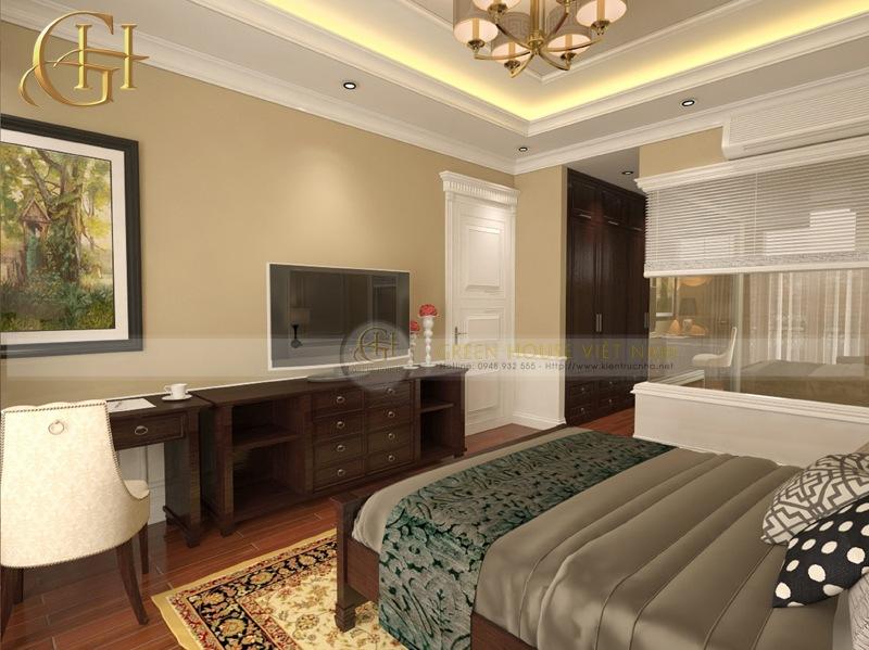 Thiết kế nội thất tân cổ điển sang trọng, đẳng cấp: Biệt thự Trung Văn - Phòng ngủ con trai