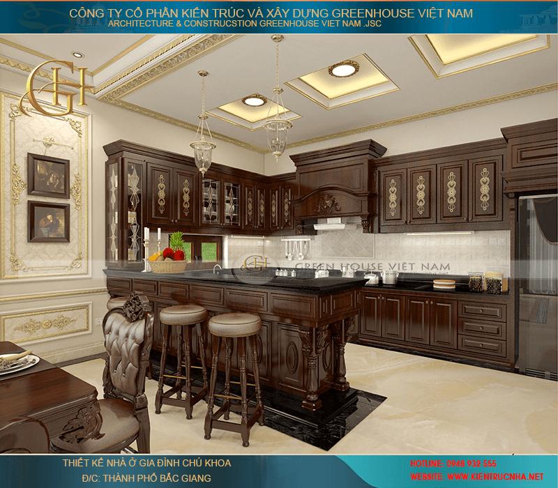 mẫu thiết kế nội thất cho biệt thự 3 tầng nhà chú Khoa - Bắc Giang