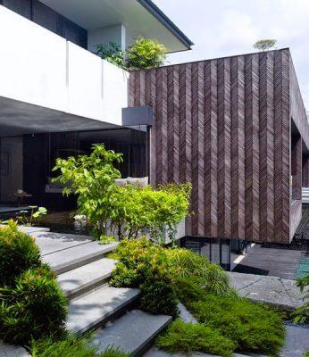 mẫu thiết kế ngôi nhà xanh