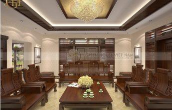 Thiết kế nội thất biệt thự hiện đại Á Đông - Biệt thự anh Thắng