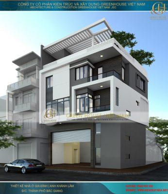 thiết kế nhà ở kết hợp làm văn phòng 5 tầng