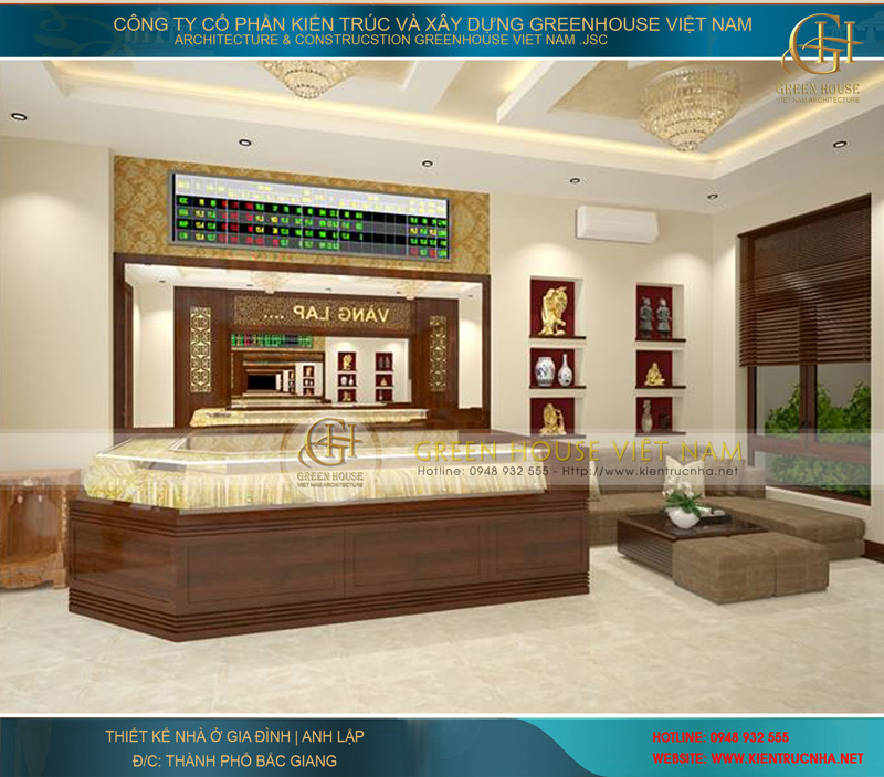 Hình ảnh cửa hàng vàng tại tầng 1