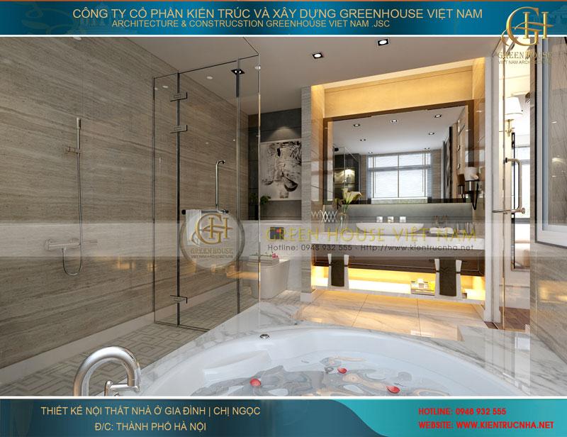 Không gian nội thất phòng tắm