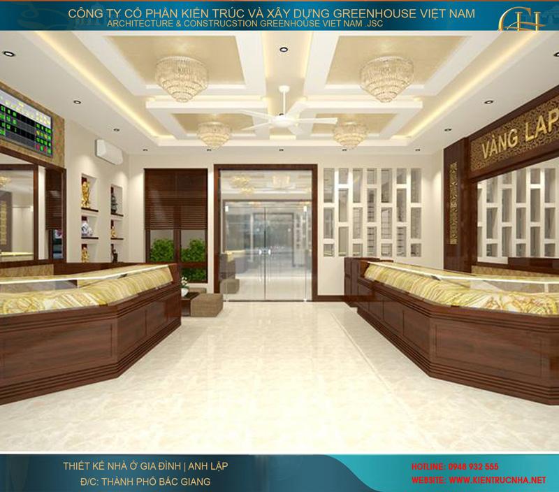 Không gian 3D của phòng bán hàng tầng 1