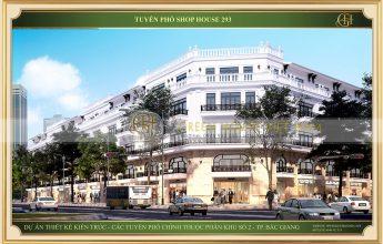 Phối cảnh dự án Shophouse tuyến đường 293 tại Bắc Giang