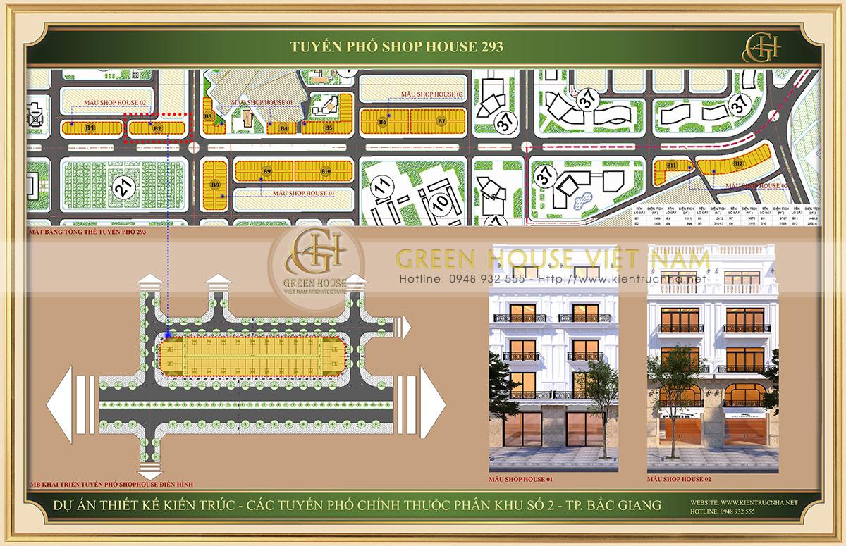 Dự án Shophouse tuyến đường 293 tại Bắc Giang