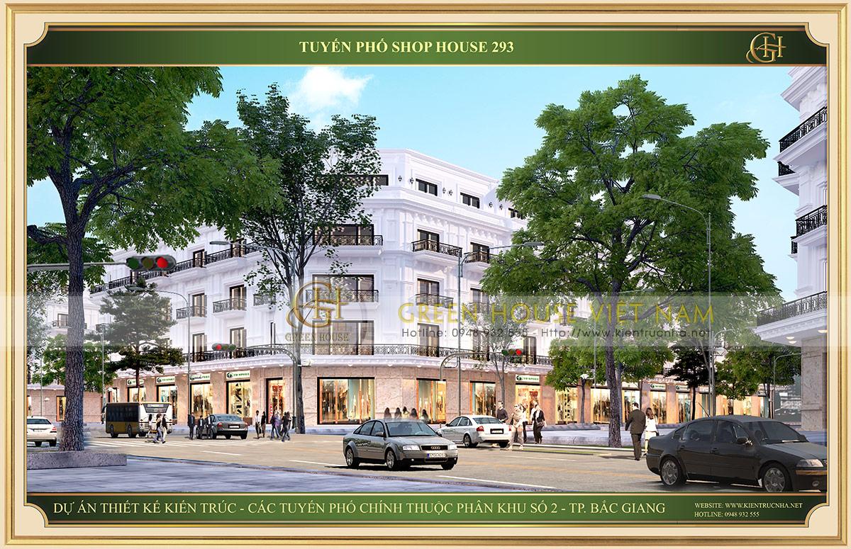 Dự án Shophouse tuyến đường 293 tại Bắc Giang - Mẫu 2