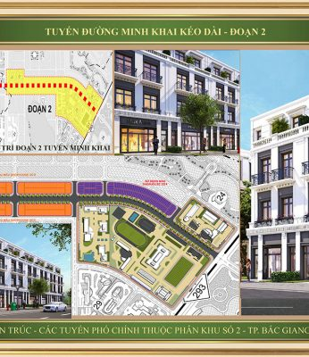 Mẫu A thiết kế Shophouse tuyến đường minh khai kéo dài Bắc Giang