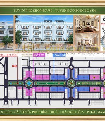 Dự án thiết kế Shophouse trên tuyến đường đi bộ 68m tại Bắc Giang