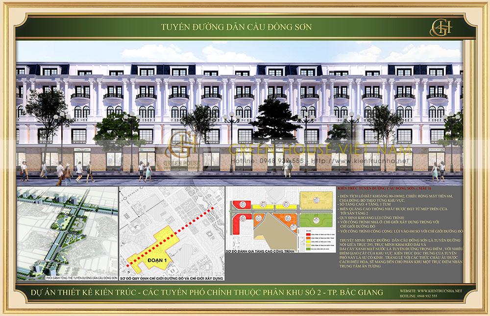 Mẫu 1 - Dự án nhà ở tuyến đường dẫn cầu Đông Sơn