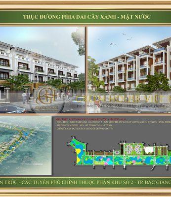 Dự án nhà ở trục dảy cây hồ nước Phân khu 2 Bắc Giang