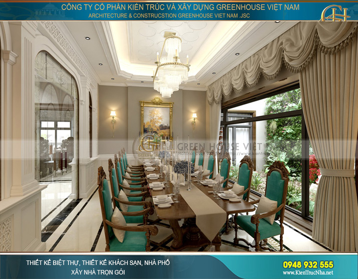 Phòng đại tiệc bàn ăn lớn