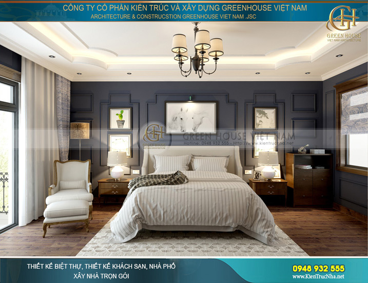 Mẫu phòng ngủ kiểu pháp nhẹ nhàng