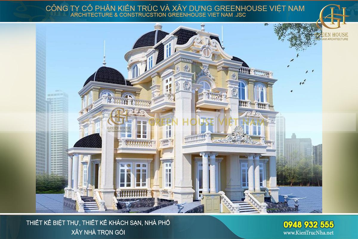 thiết kế biệt thự lâu đài