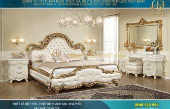 thiết kế nội thất giường ngủ kiểu cổ điển