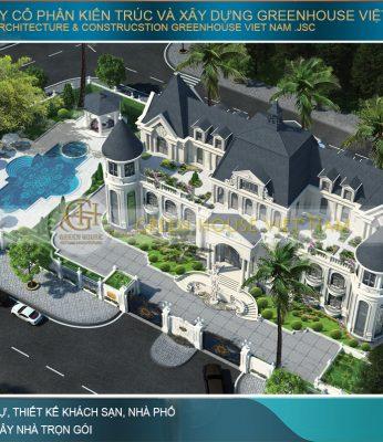 thiết kế biệt thự tân cổ điển, dinh thự đẹp đẳng cấp