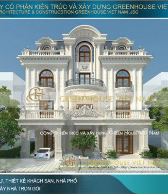 thiết kế biệt thự tân cổ điển mái mansard