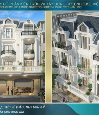 biệt thự phố tân cổ điển 3 tầng tại hà nội