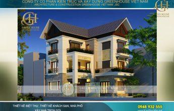 thiết kế biệt thự hiện đại mái thái tại Quảng Ninh