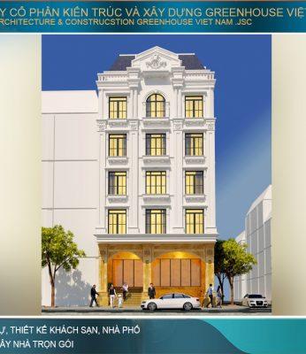 thiết kế biệt thự phố tân cổ điển tại hà Nội