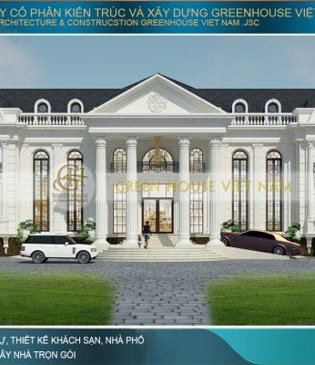 thiết kế dinh thự tân cổ điển tại Hà Nội