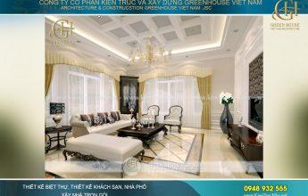 thiết kế nội thất biệt thự tân cổ điển tại hà nội