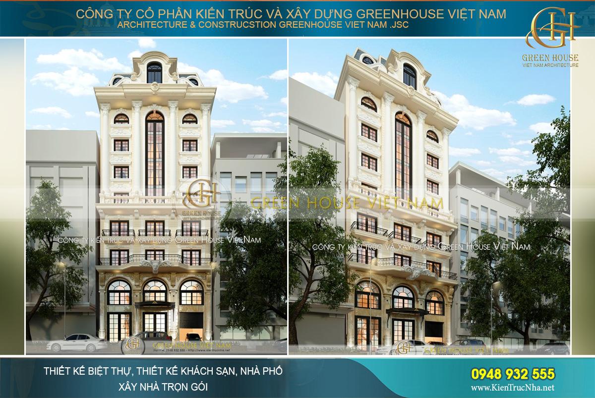 thiết kế khách sạn cổ điển tại hà nội