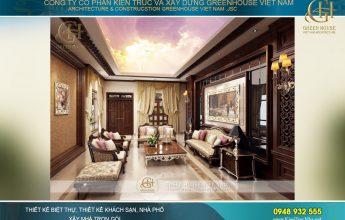 thiết kế nội thất biệt thự cổ điển 4 tầng tại Hà Nội