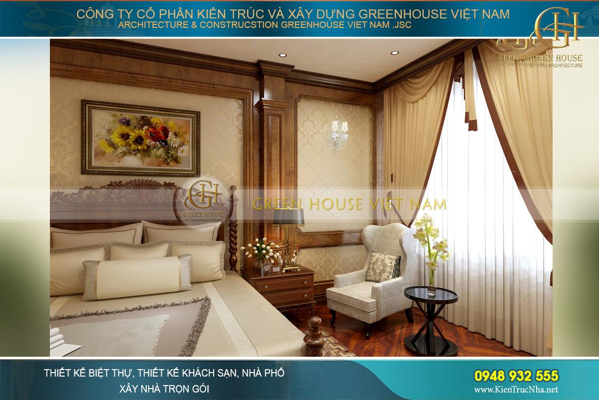 thiết kế nội thất biệt thự tân cổ điển waterfront Hải Phòng