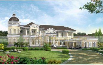thiết kế dinh thự lâu đài cổ điển tại Phan Thiết