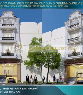 thiết kế nhà phố tân cổ điển kết hợp kinh doanh